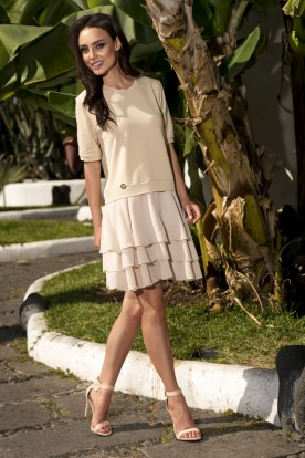 L244 Mini dress beige
