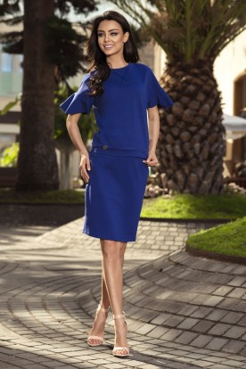 Casual set with a pencil skirt L233 navy