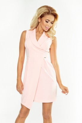 153-5 Dress with neckline - peach