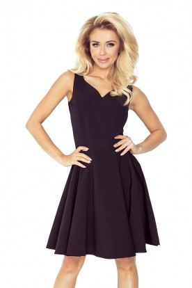 Dress - heart-shaped neckline - Black 114-9