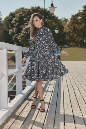 Unique dress with a spectacular finish L269 dots
