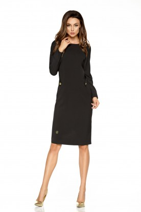 Elegant business dress L274 black
