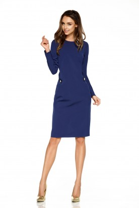Elegant business dress L274 navy