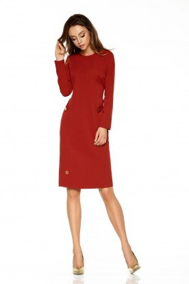 Elegant business dress L274 crimson