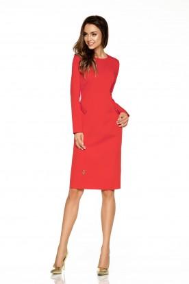 Elegant business dress L274 red