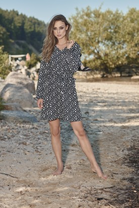 Girly dress with patterns L275 dots
