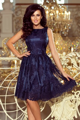 173-3 Exclusive dress - navy blue