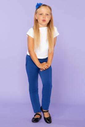 Mėlynos laisvalaikio kelnės mergaitei