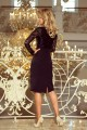 216-2 EMMA elegant pencil dress with lace - black