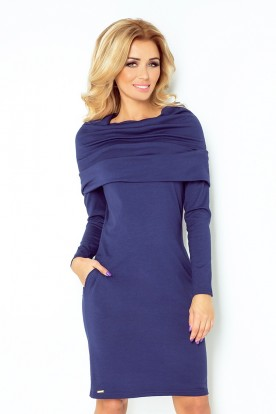 Dress with golf - navy Blue 131-5