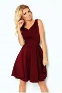 Bordo spalvos suknelė