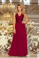 Puošni bordo spalvos suknelė