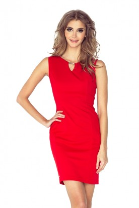 Elegant dress with buckle - RED MM 005-1