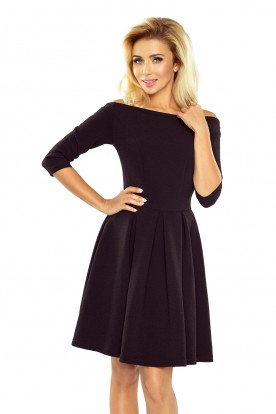 163-1 Dress with bare shoulders - black