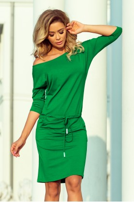 13-95 Sports dress with binding and pockets - green