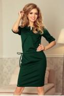 Tamsiai žalia suknelė