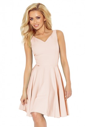 Dress circle - heart-shaped neckline - very lihgt pink 114-8