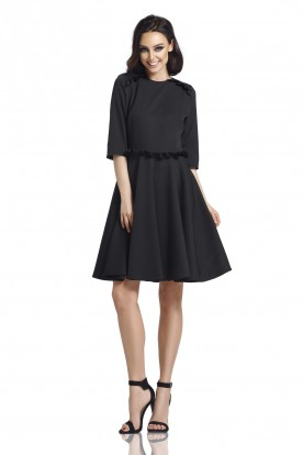 Dress with the frill L291 black
