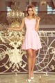 MM 014-10 Dress - heart-shaped neckline - pastel pink