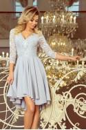 Šviesiai pilka elegantiška suknelė