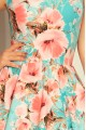 251-1 Exclusive dress with longer back - Peach flowers