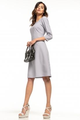 Klasikinė šviesiai pilka suknelė