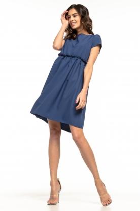 Žavi tamsiai mėlyna suknelė