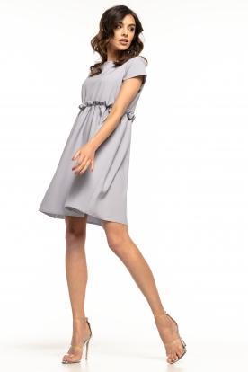 Žavi šviesiai pilka suknelė