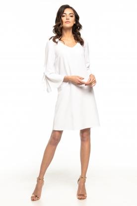 Balta daili suknelė