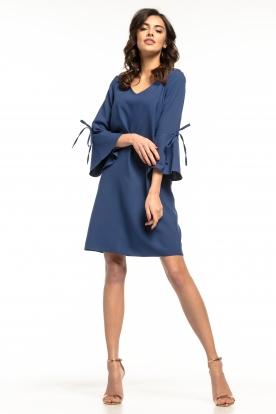 Tamsiai mėlyna daili suknelė