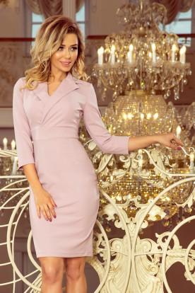 237-1 KELLY Elegant dress with a neckline - LILA