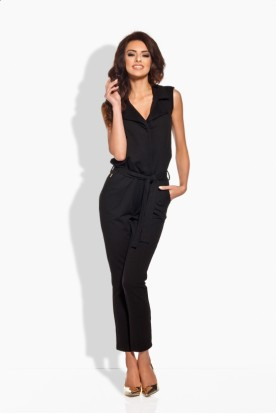 L145 Elegant overall with flanging black