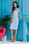 Midi ilgio šviesiai mėlyna suknelė