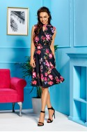 Midi ilgio gėlėta suknelė