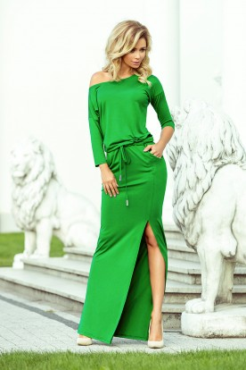 220-7 MAXI sporty dress - green