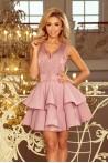 Šviesiai violetinė elegantiška suknelė