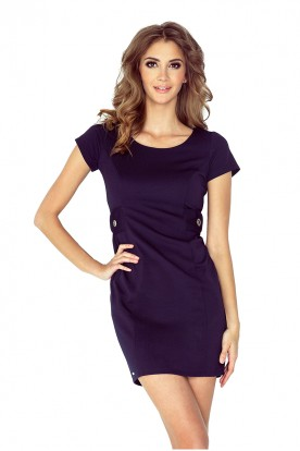 Dress with buttons - navy blue MM 010-1