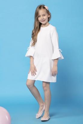 Balta suknelė mergaitei