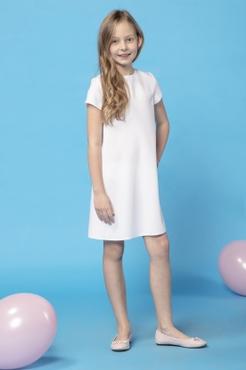 Daili balta suknelė mergaitei