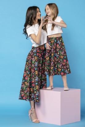 Žavus margas sijonas moteriai