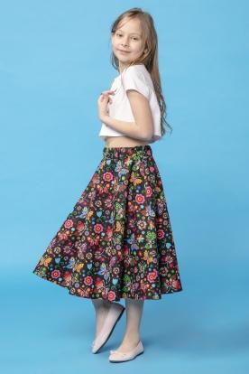 Žavus margas sijonas mergaitei