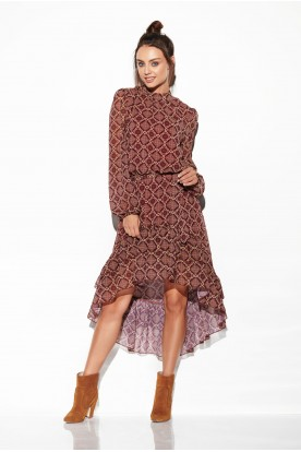 Dress with shorter front LG504 print 7