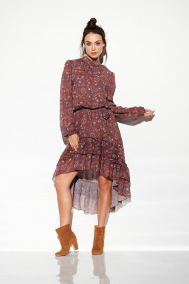 Dress with shorter front LG504 print 9