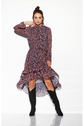 Dress with shorter front LG504 print 10