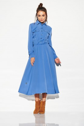 Maxi colourful shirtdress L314 jeans