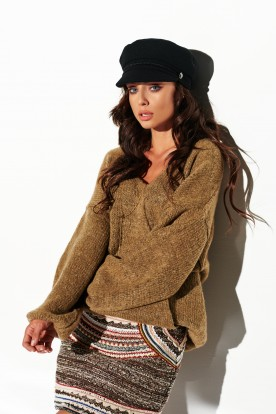 Sweater with big cleavage LSG111 cappuccino