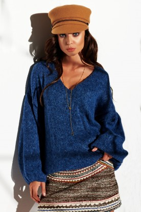 Sweater with big cleavage LSG111 jeans