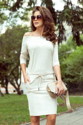 13-109 Sporty dress - beige melange