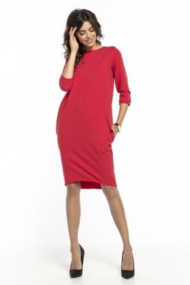 Raudona daili suknelė
