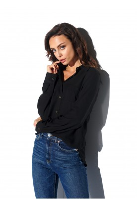 Shirt with one pocket L318 black